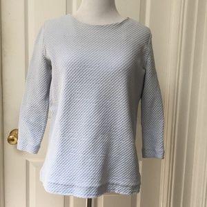 COS light blue top, textured fabric
